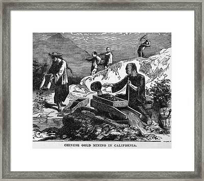 Chinese Strike Gold Framed Print by Hulton Archive