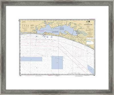 Choctawhatchee Bay Noaa Chart 11388 Framed Print