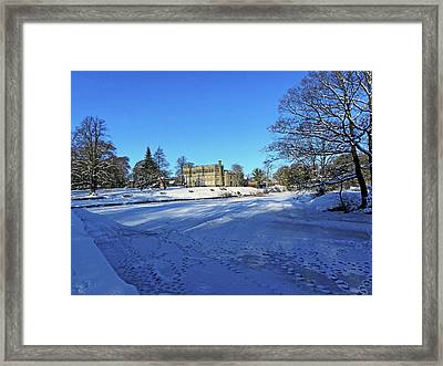 Chorley. Astley Hall In The Snow Framed Print
