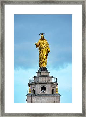 Framed Print featuring the photograph Christ The Redeemer by Fabrizio Troiani