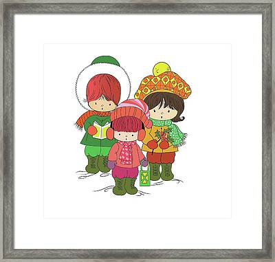 Christmas Angels Framed Print