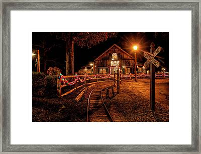 Framed Print featuring the photograph Christmas At The Barn In Smithville by Kristia Adams
