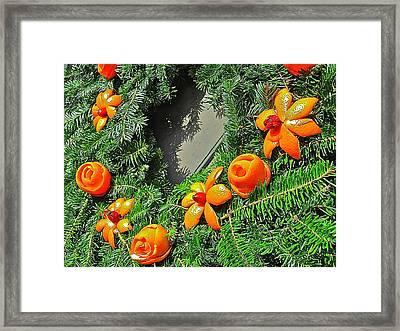Christmas Citrus Framed Print