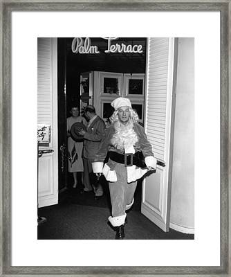 Christmas Crosby Framed Print by Slim Aarons