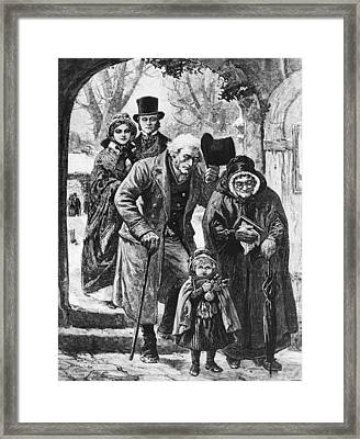 Christmas Day Service Framed Print by Hulton Archive