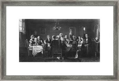 Christmas Dinner Framed Print by Hulton Archive