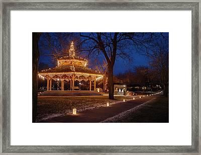 Christmas Eve In Dexter Framed Print