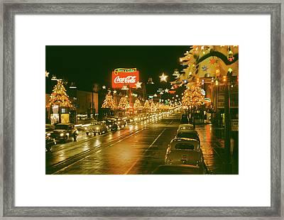 Christmas In La Framed Print by Harvey Meston