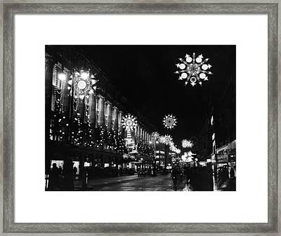 Christmas Lights Framed Print by William Vanderson