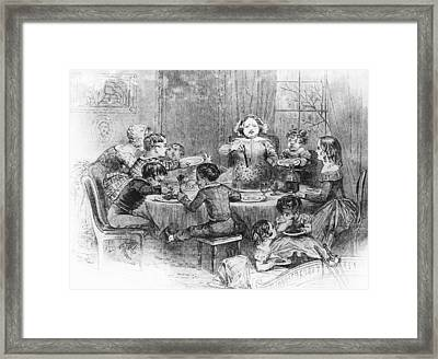Christmas Pudding Framed Print by Illustrated London News