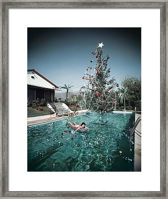 Christmas Swim Framed Print