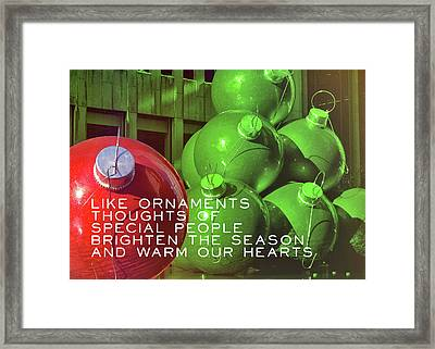 City Christmas Quote Framed Print by JAMART Photography