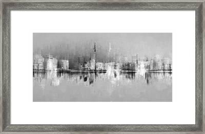 City In Black Framed Print
