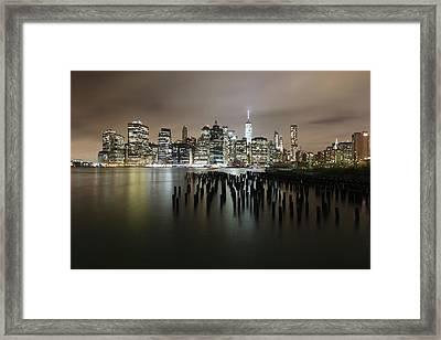 City Lit Up At Night Framed Print by Damien Gavios / Eyeem