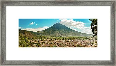 Framed Print featuring the photograph City Of Antigua Guatemala by Tim Hester