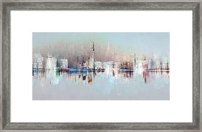 City Of Pastels Framed Print