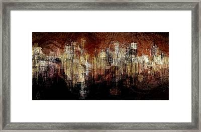 City On The Edge Framed Print