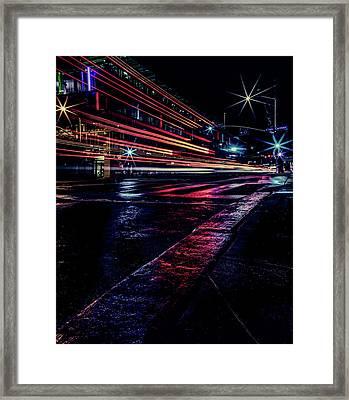City Streaks Framed Print