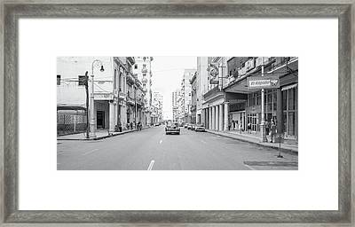 City Street, Havana Framed Print