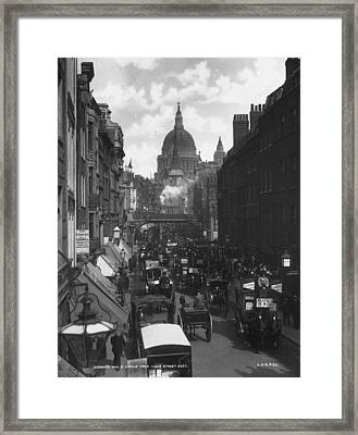 City Traffic Framed Print by London Stereoscopic Company