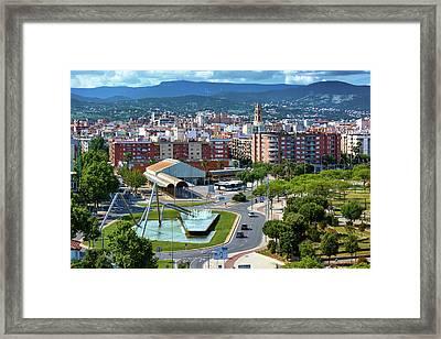 Cityscape In Reus, Spain Framed Print
