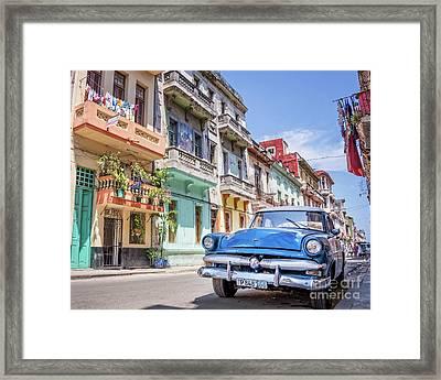 Classic Car Havana 8x10 Framed Print