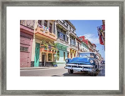 Classic Car In Havana, Cuba Framed Print