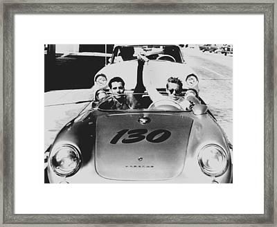 Classic James Dean Porsche Photo Framed Print