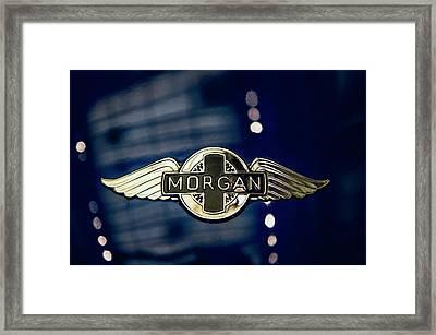 Classic Morgan Name Plate Framed Print