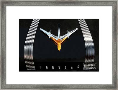 Classic Pontiac Hood Ornament Framed Print