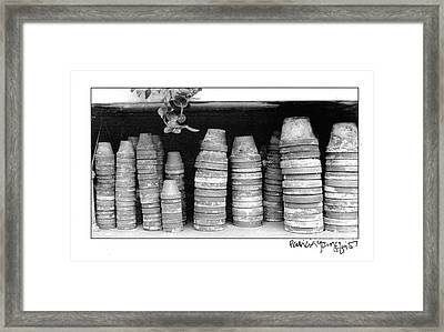 Framed Print featuring the photograph Clay Pots by Patricia Youngquist