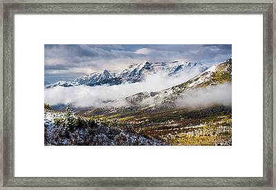 Framed Print featuring the photograph Clearing Storm by TL Mair