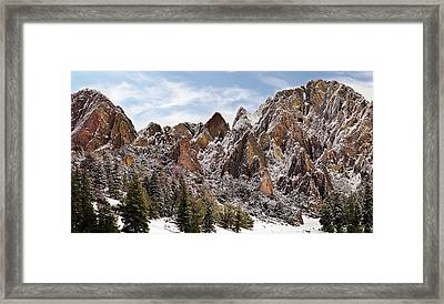 Cliff Texture Framed Print by Leland D Howard