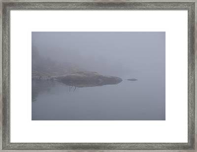 Cliffs In Fog Framed Print
