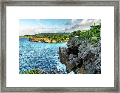 Cliffside Views Portland Jamaica Framed Print