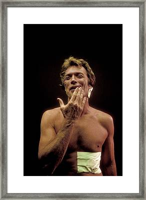 Clint Eastwood Framed Print by Bill Eppridge