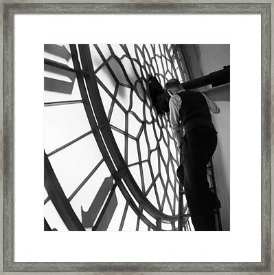 Clock Inspection Framed Print by Frank Martin