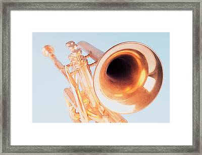 Close-up Of A Trumpet Framed Print by Photosindia