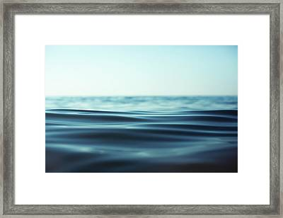 Close-up Of Rippling Water Surface Framed Print
