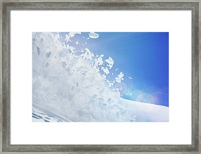 Close Up Of Snow Covered Hill With Framed Print by Moof