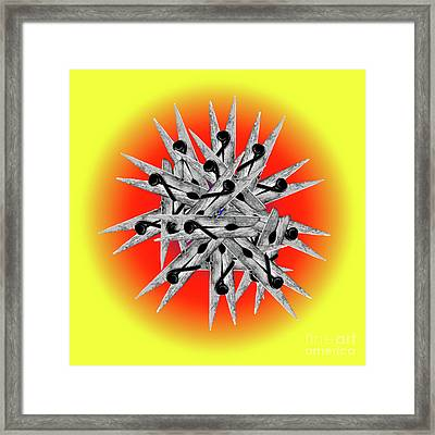 Clothespin Pop Art Warhol Style Print - #1 Framed Print