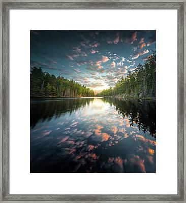 Cloud Atlas / Boundary Waters, Minnesota  Framed Print
