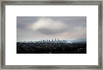 Cloud On Vancouver  Framed Print