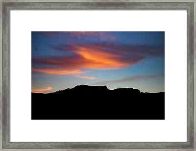Cloud Over Mt. Boney Framed Print