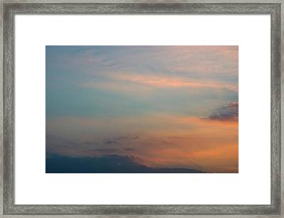 Framed Print featuring the photograph Cloud-scape 7 by Stewart Marsden
