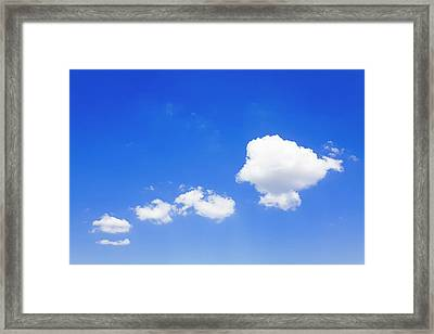 Clouds In A Blue Sky, Valensole Framed Print by F. Lukasseck