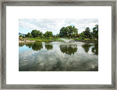 Clouds On Ashley Pond Framed Print