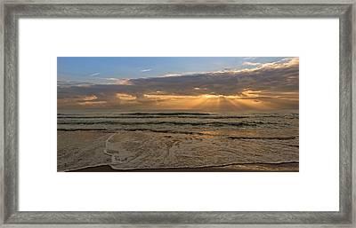 Cloudy Sunrise In The Mediterranean Framed Print