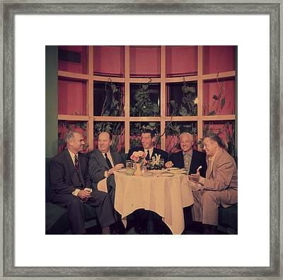 Club Lunch Framed Print by Slim Aarons