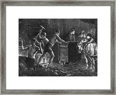 Coal Miners Framed Print by Hulton Archive